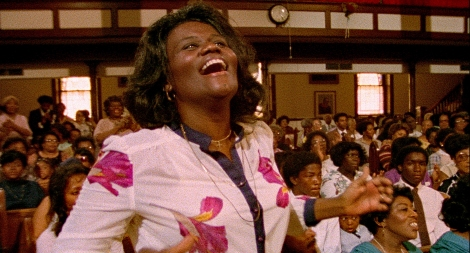 Gospel singing great Zella Jackson Price cheering on the performances in SAY AMEN, SOMEBODY, the 1982 classic Gospel documentary directed by George Nierenberg. Film to 4K digital restoration by Metropolis Post, New York: Jack Rizzo, Ian Bostick (restoration artist), Jason Crump (colorist) and Allen Perkins. Audio Restoration and 5.1 Sound by Audio Mechanics. Sound Engineer: John Polito. Restoration Produced by Milestone Film & Video, the Smithsonian National Museum of African American History and Culture and the Academy Film Archive. Funding by Robert F. Smith Fund Professional Curation Project and the Academy Film Archive. Supervised by George Nierenberg and Dennis Doros.