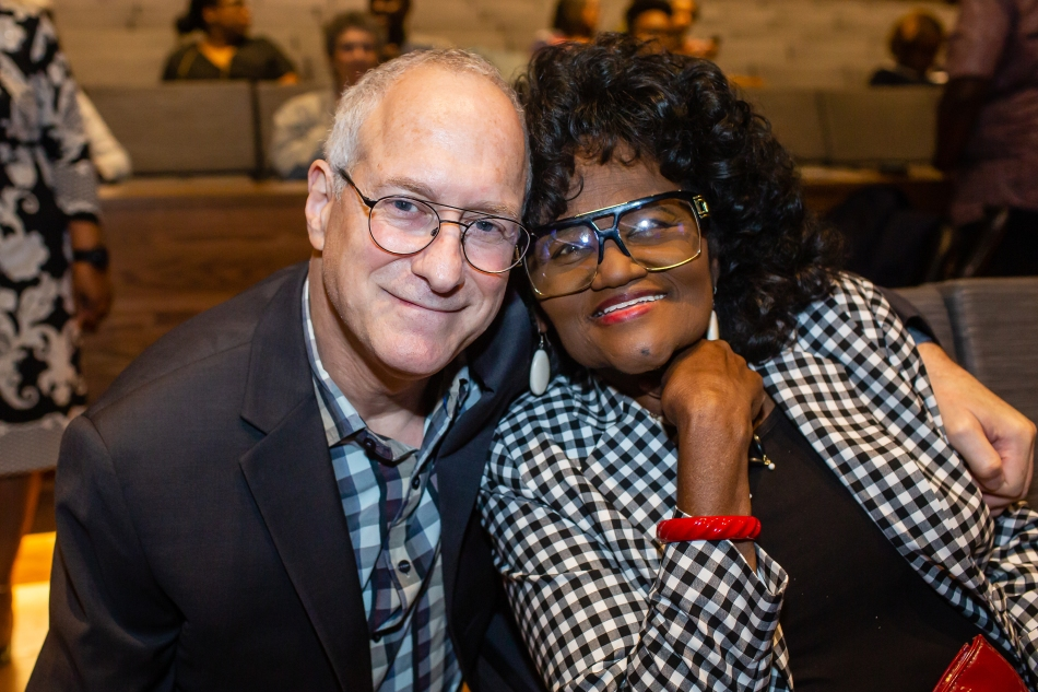 George Nierenberg and Zella Jackson Price at the National Museum of African American History and Culture premiere, March 2019